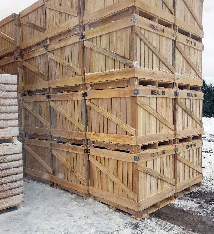 Boîtes en bois pour transport de fruits légumes | GCharland ...
